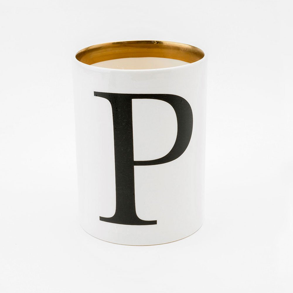 Baskerville letter P large pen pot