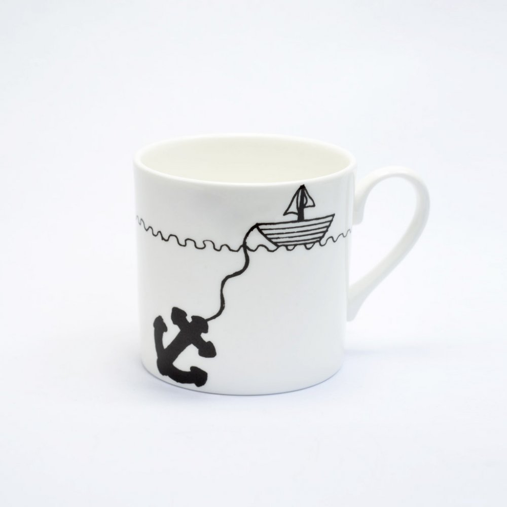 Black Hello sailor mug