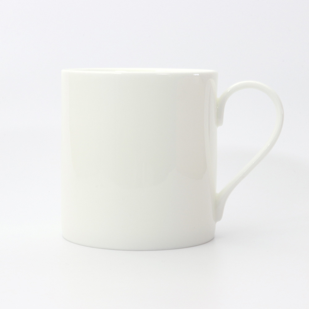 BESPOKE straight WHITE BONE CHINA mug