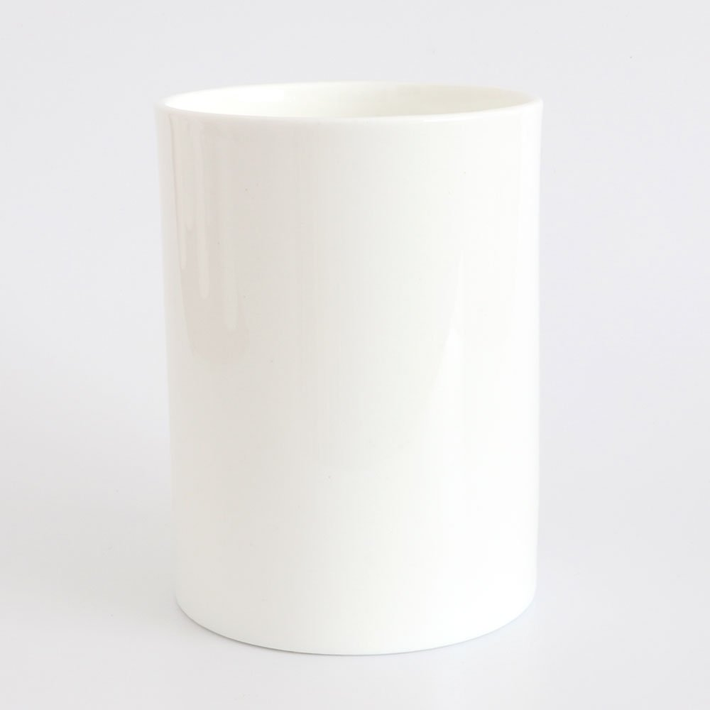 customise white bone china large pen pot