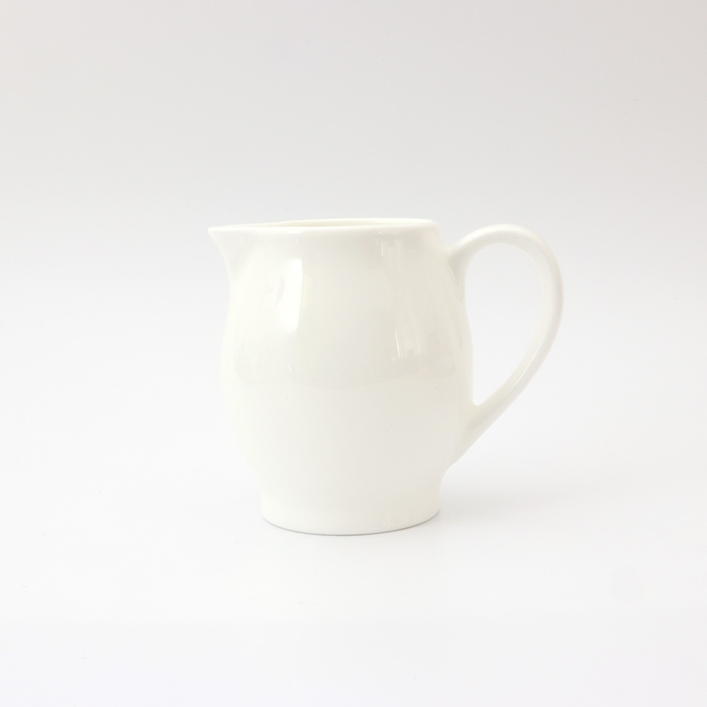 SMALL ROUNDED BONE CHINA JUG