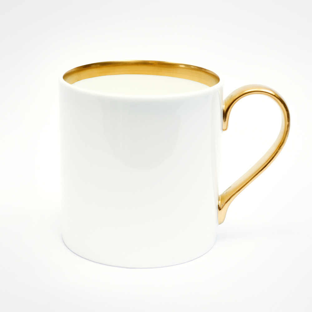 BESPOKE 22ct gold straight mug