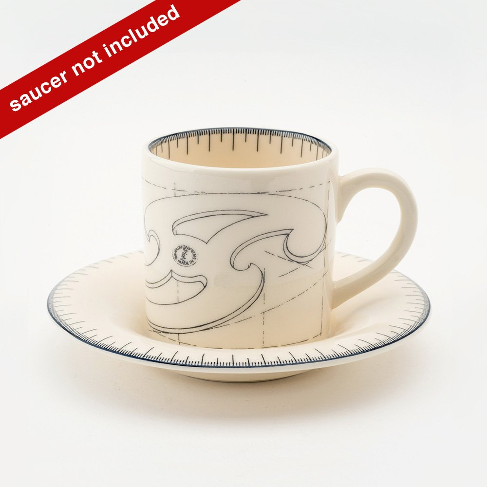 French curve espresso cup