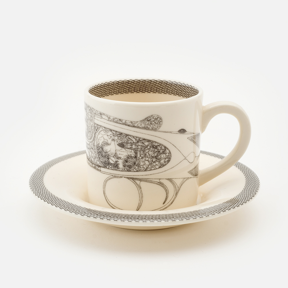 Grouse espresso cup & saucer
