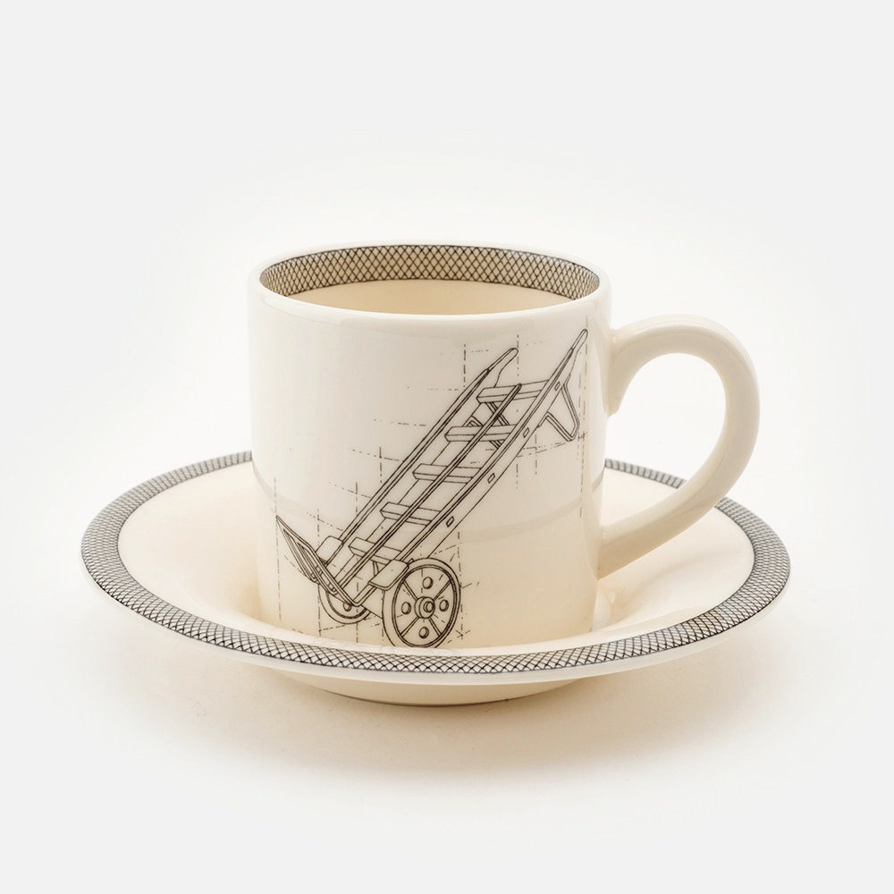 Trolly espresso cup and saucer