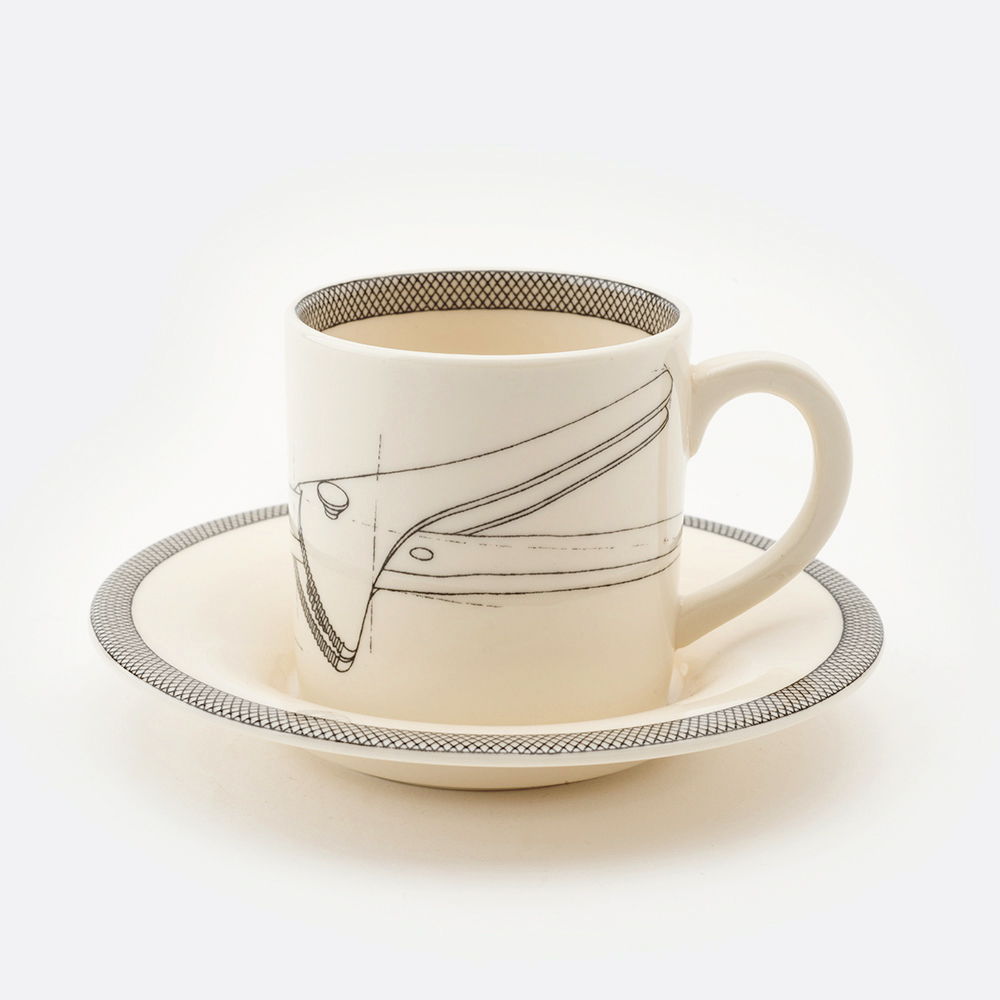 Wrench espresso cup and saucer