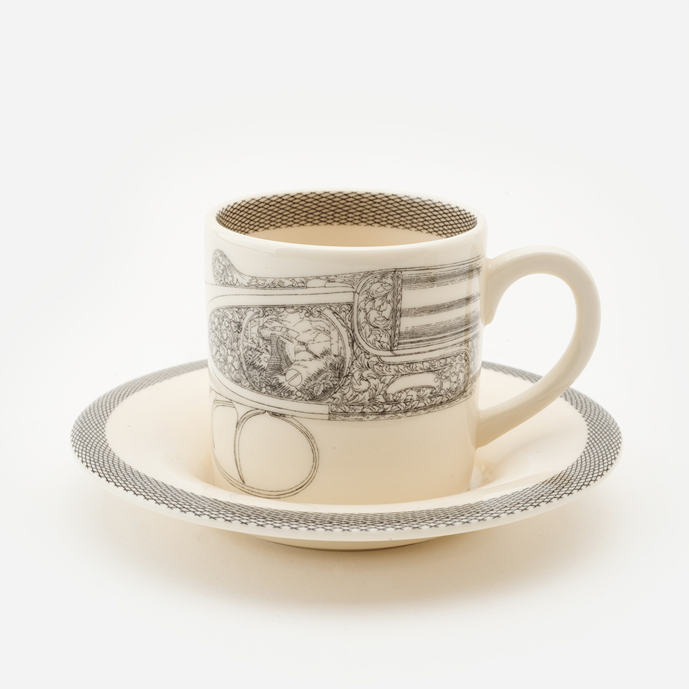 Flying woodcock espresso cup & saucer