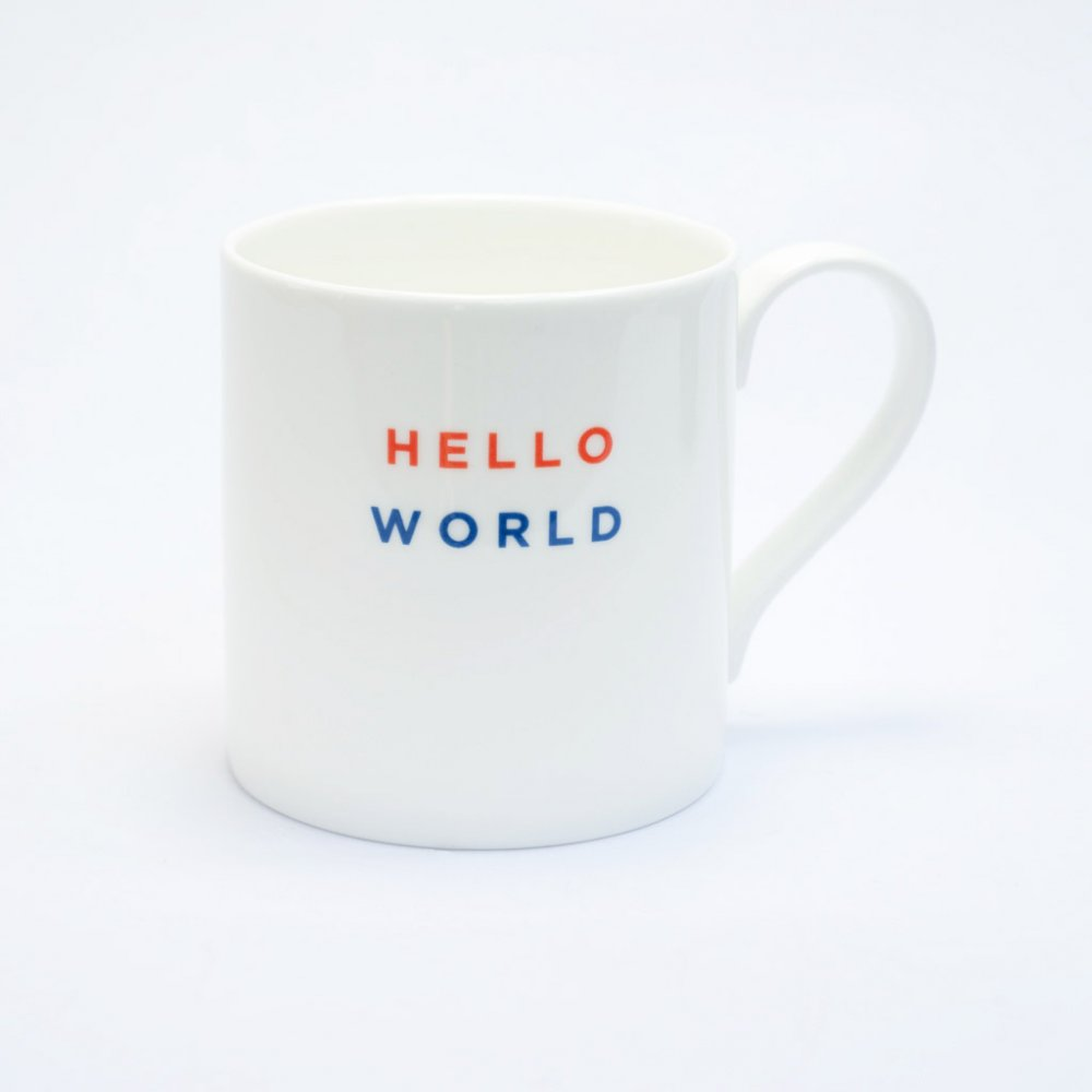 HELLO WORLD Straight Mug