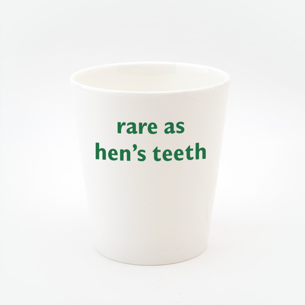Rare as Hen's teeth toothbrush holder