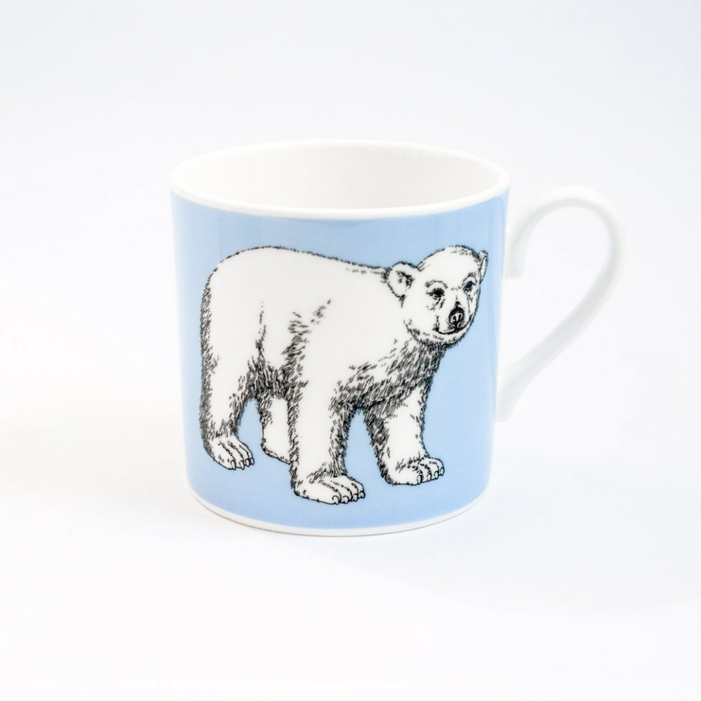 BLUE POLAR BEAR MUG