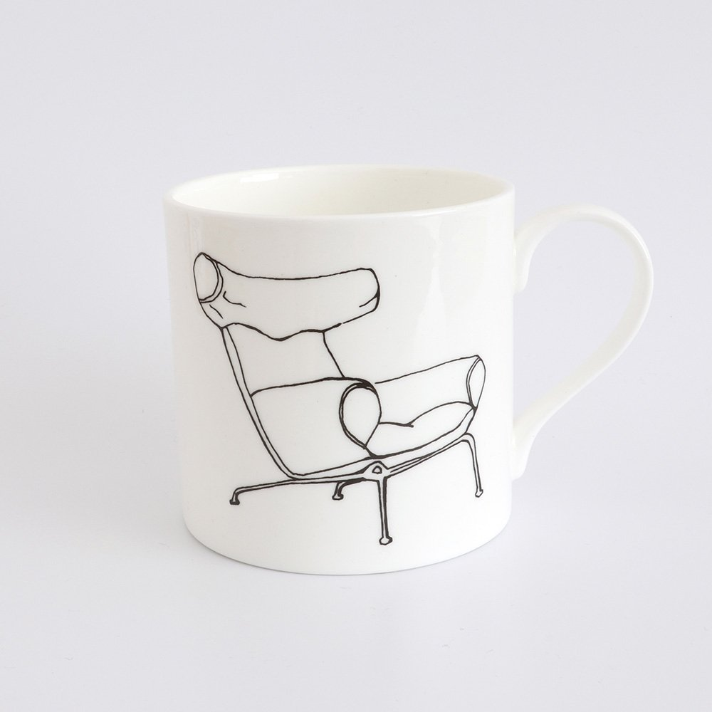 Ox Chair by Hans J Wegner half pint mug