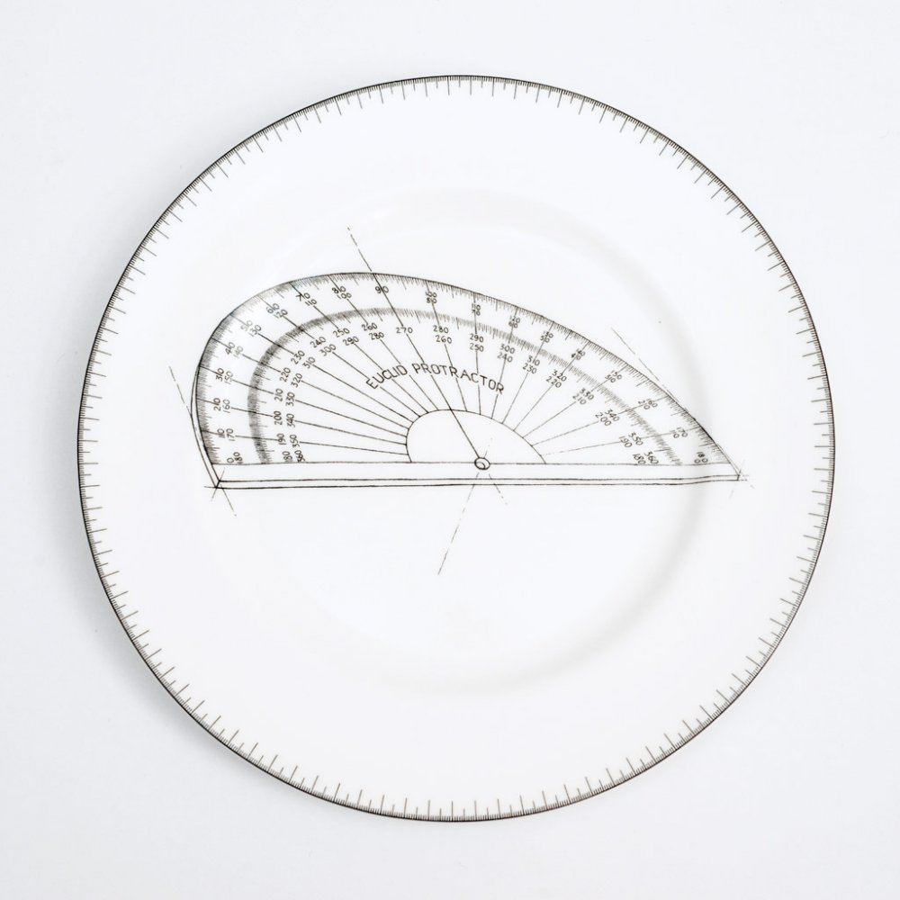 Protractor dinner plate