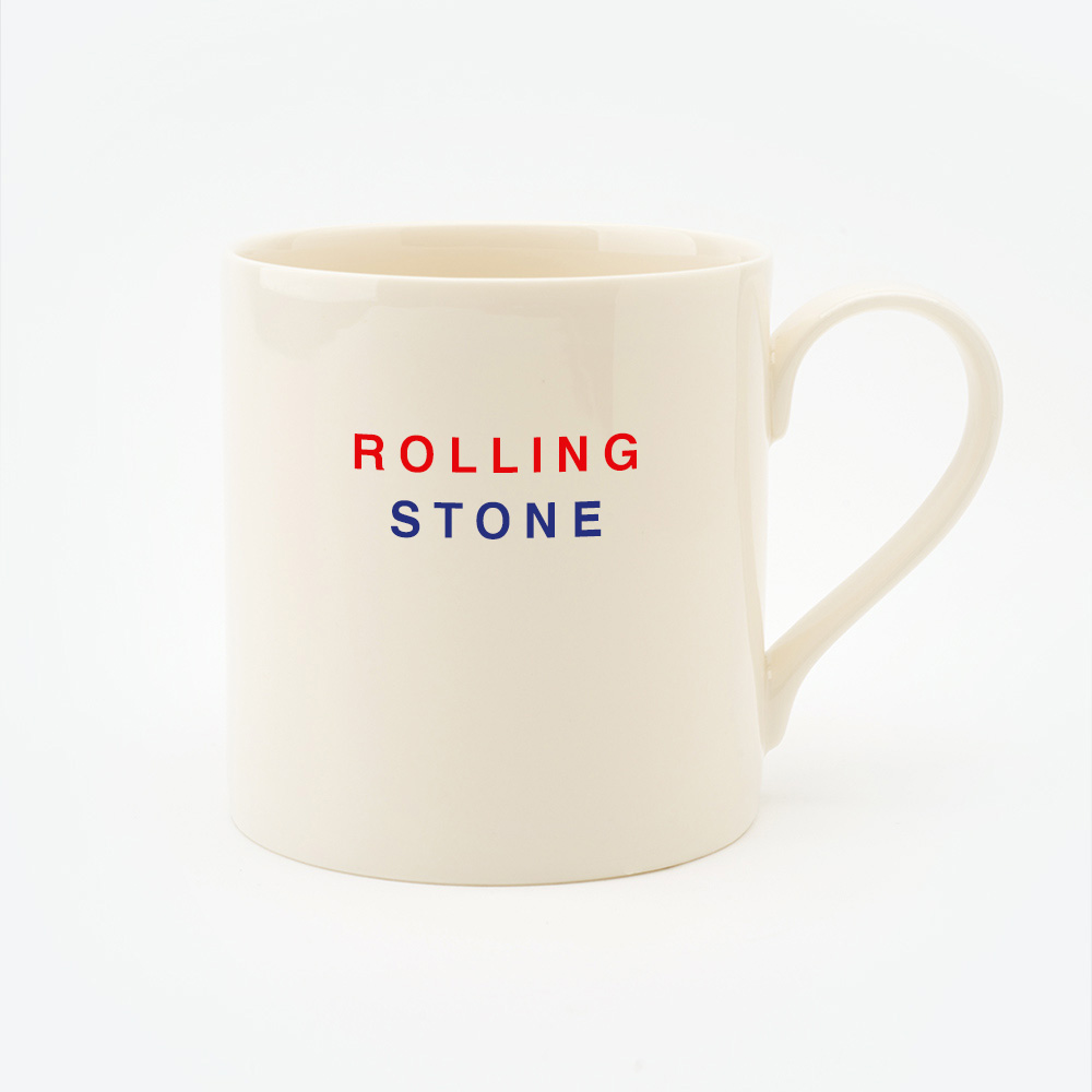 Red, Cream & Blue ROLLING STONE Straight Mug