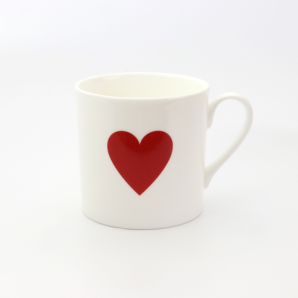 RED HEART SMALL COFFEE MUG