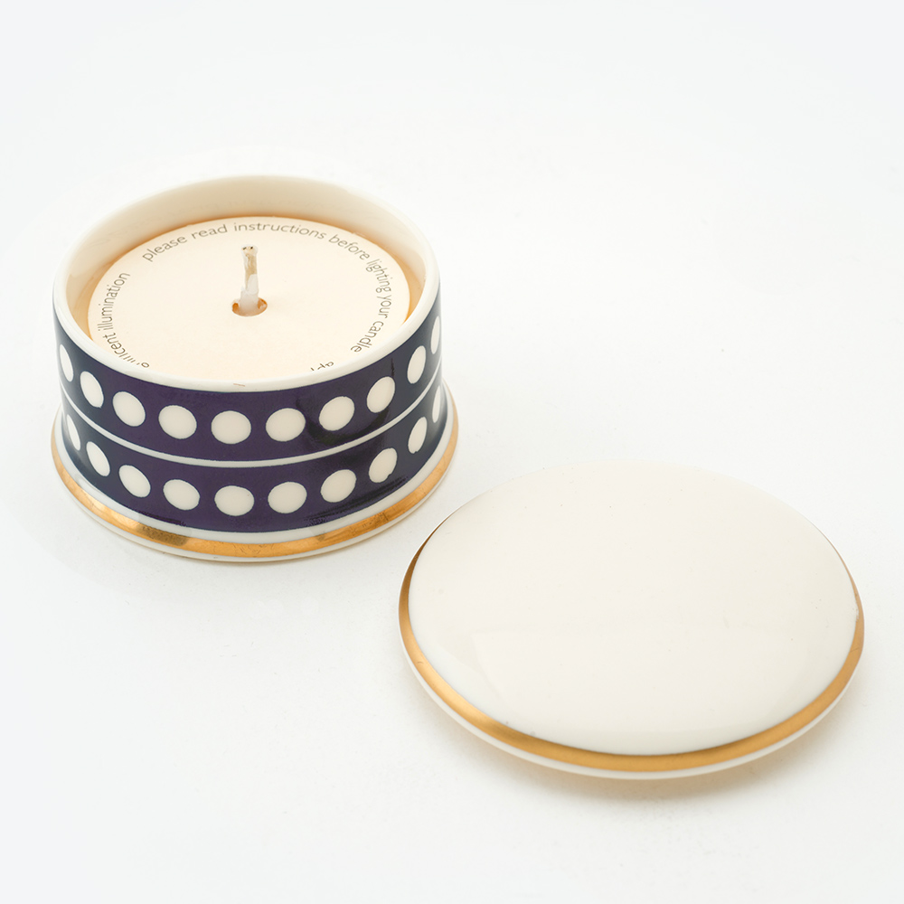 Circle Midnight Blue Travel Candle