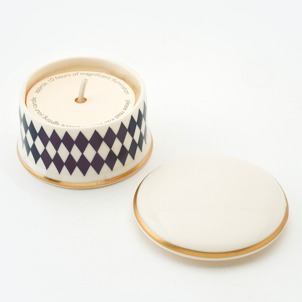 Harlequin Midnight Blue Travel Candle