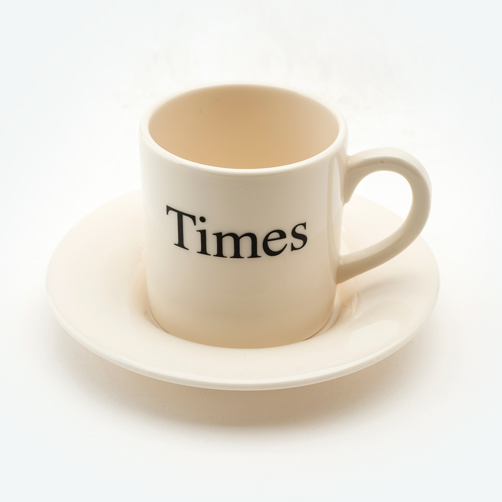 Times espresso cup & saucer