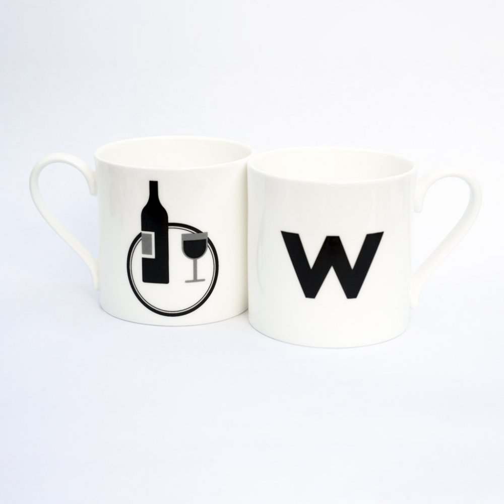 W IS FOR WINE mug