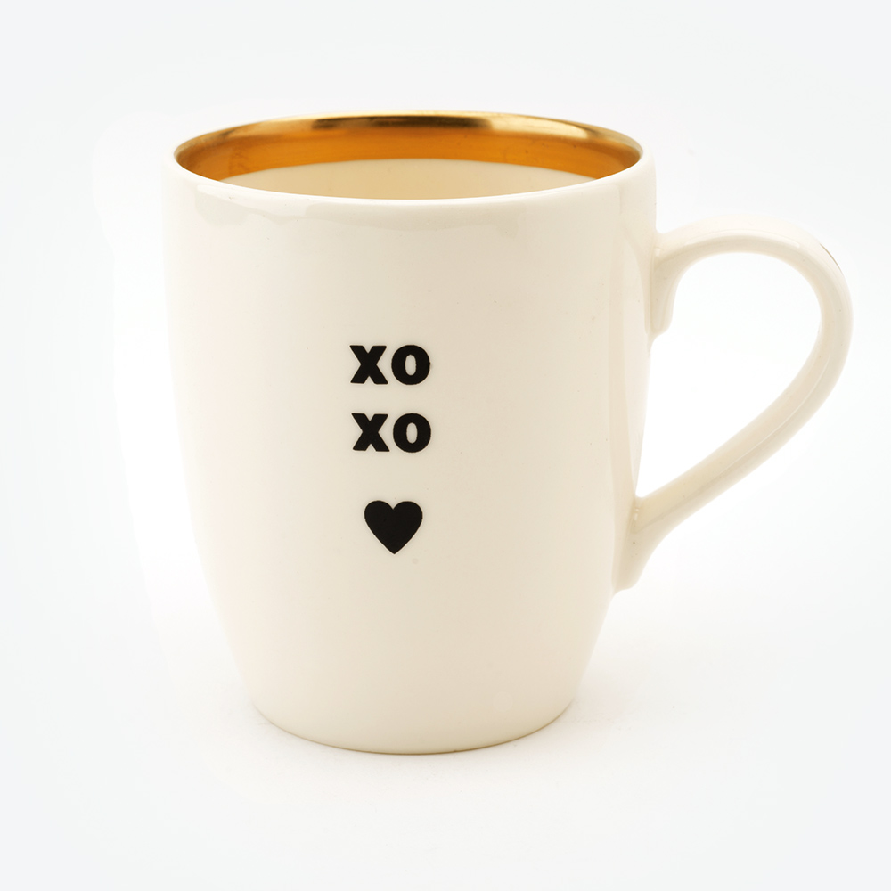 xoxo gold mug black